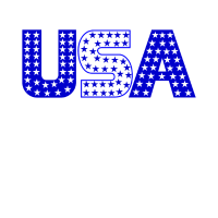 USA Sterne blau weiß