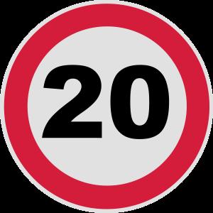 20. Geburtstag / 20 / Verkehrsschild