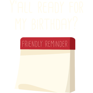 Yall Bereit für meinen Geburtstag FontBukhari ENG