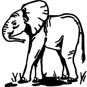 Elefantenbaby (Afrika)