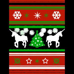 Weihnachten CHRISTMAS Einhorn SWEATER