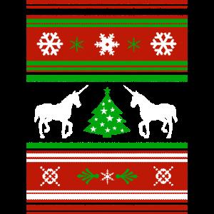 Weihnachten CHRISTMAS SWEATER Einhorn
