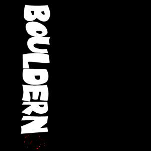 Bouldern Print für Frauen - schwarz