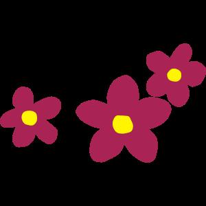 Flower Power zweifarbiges Blumendesign