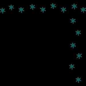 Rahmen aus kleinen Glitzer-Sternchen Schneeflocke