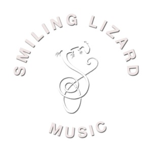 Smiling Lizard Music Logo weiß