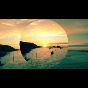 Sonnenuntergang Bude, Cornwall