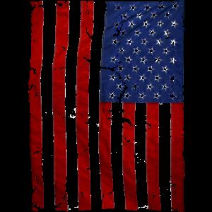 US flag vintage stars and stripes white shirt