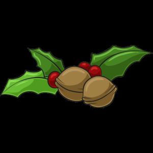 Weihnachten Stechpalme Walnuss Dekoration