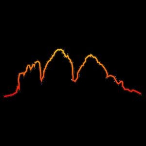 Dolomiten Drei Zinnen Abendrot Glühen