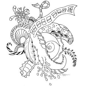 Fantasie Fantasy black scribblesirii