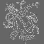 Fantasi hvit scribblesirii