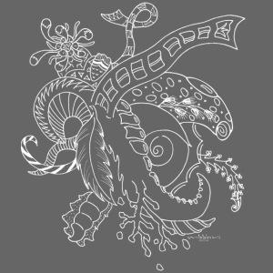 Fantasy white scribblesirii