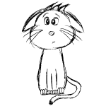 Katze schwarz scribblesirii