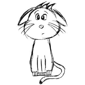 Gatto gattino nero scribblesirii