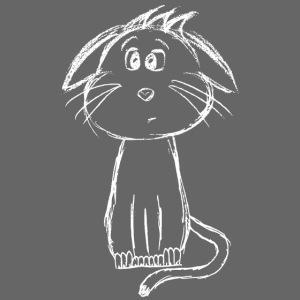 Katze weiß scribblesirii