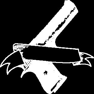Pistole mit banderole