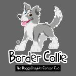 CartoonClub Border Collie merle
