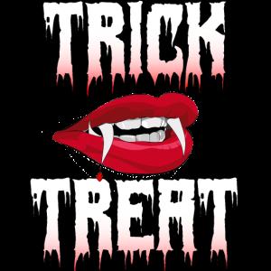 Trick or Treat Vampir Pumpkin face scary Halloween