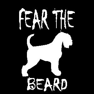 FEAR THE BEARD SCHNAUZER Hunde T SHIRT