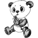 Panda black scribblesirii