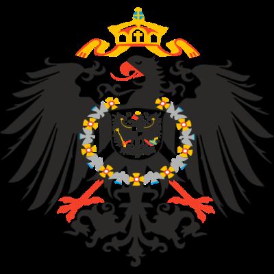 Reichsadler 1880 - Der Reichsadler von 1880 dem Mosaik auf dem Rathausplatz Wiesbaden nachempfunden. - Wiesbaden,Reichsadler,Rathausplatz,Mosaik,1880