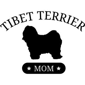 Tibet-Terrier - Mom mit Sternen