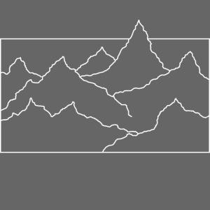 Kontur Gebirge weiss
