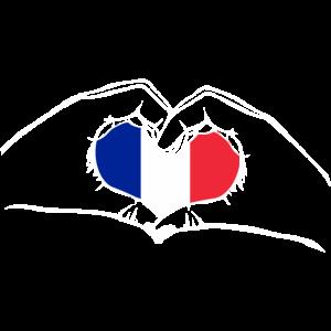 Ich liebe Frankreich - Herz Hände