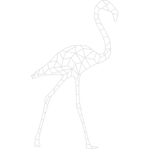 Flamingo kubistisch