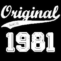 Original 1981 Geburtstag Jahre Geschenk T-Shirt