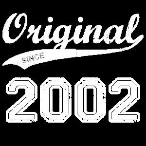 Original 2002 Geburtstag Jahre Geschenk T-Shirt