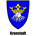 "Kronstadt in Siebenbürgen - Wappen mit Schriftzug ""Kronstadt"" - Transylvania, Transilvania, Ardeal,"