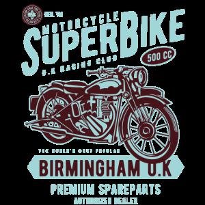 Oldtimer Motorrad Biker Geschenk