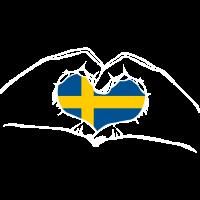 Ich liebe Schweden - Herz Hände