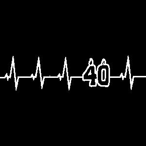 40 Jahre - Happy Birthday - Herzschlag