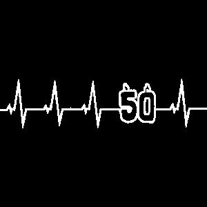 50 Jahre - Happy Birthday - Herzschlag