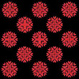 Sterne gestrickt Wintermotiv Kreuzstich