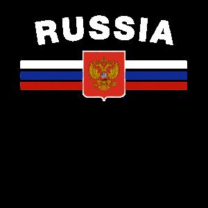 Russische Flagge Shirt - Russian Emblem & Russland-Flagge
