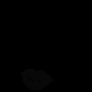 T-Shirt für Frauen und Mädchen mit Kussmund-Girly