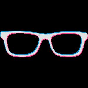 Nerdbrille Nerdy Geeky 3D 3c