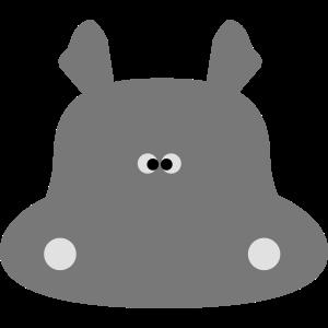 Süßes Nilpferd / Hippo / Flusspferd 3c