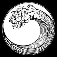 Welle - Japanischer Hokusai Stil