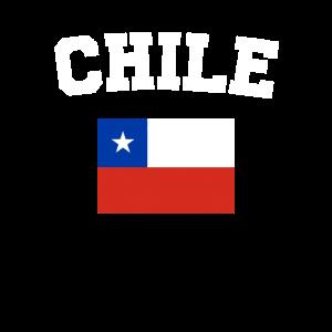 Chilenische Flagge Shirt - Weinlese-Chile-T-Shirt