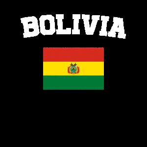 Bolivianische Flagge Shirt - Weinlese Bolivien T-Shirt