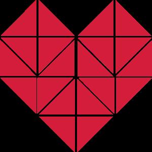 Origami Herz Heart Herzen Liebe Love 1c