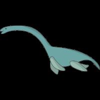Lustig Comic Nessie Monster Geschenk Dinosaurier