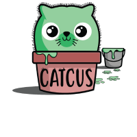 Catcus. Camiseta de Gato Kawaii Divertida