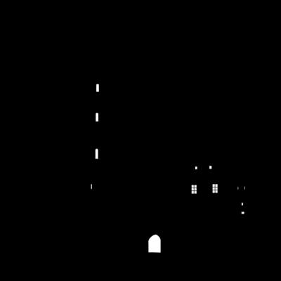 Bielefeld Sparrenburg - Die Bielefelder Sparrenburg als Silhouette - Turm,Symbol,Sparrenburg,Silhouette,Sehenswürdigkeiten,NRW,Mittelalter,Hügel,Festung,Burg,Bielefeld