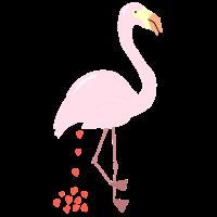 Flamingo - Lustiges Herz Poo Shirt